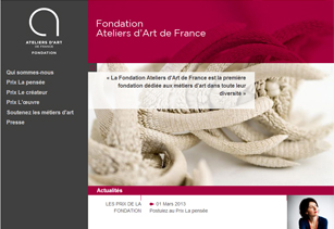 Site web de la Fondation Ateliers d'Art de France