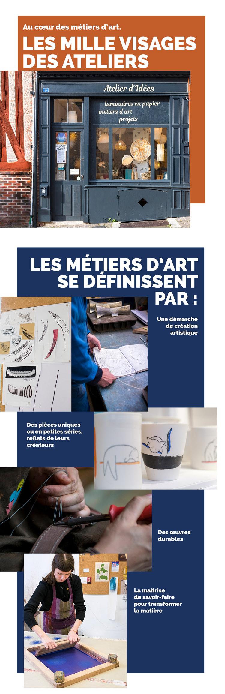 Infographie Ateliers d'Art de France métiers d'art Ateliers